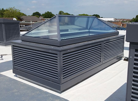 TEK Natural GA 1 - TEK Natural ventilation passive and active stack with clear glazed roof