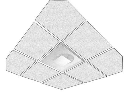 TEK Diffuser DFZ 3 - Square Perforated Face Diffuser