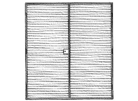 TEK Louvres LDL 1.2 - External Louvred Door - Type LD50/75/100