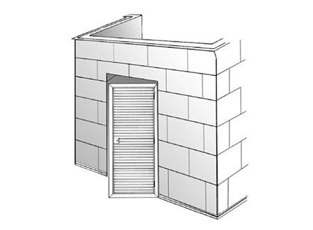 TEK Louvres LDL 2 - External Louvred Door - Type LD50/75/100