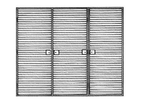 TEK Louvres LDL 3.2 - External Louvred Door - Type LD50/75/100