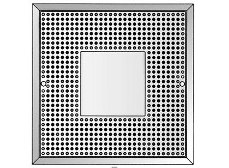 TEK Diffuser DFZ 1 1 - Square Perforated Face Diffuser