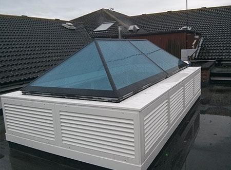 TEK Natural GA 2 - TEK Natural ventilation passive and active stack with clear glazed roof