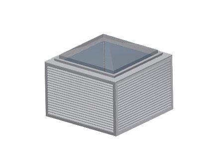 TEK Natural GA 3 - TEK Natural ventilation passive and active stack with clear glazed roof